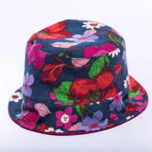Bedruckte Mütze aus reinem Kaschmir